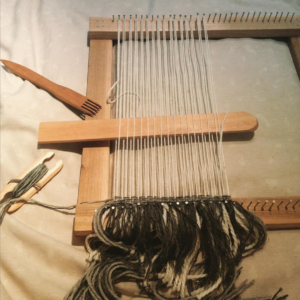 Shed stick, weaving comb, shuttle, loom with nails - weaving materials