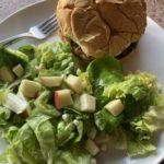 Salmon Burger and Salad