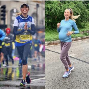 Molly running the Boston Marathon and running at 37 weeks pregnant