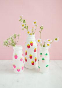 Up Cycled Fingerprint Art Vases Idea from Handmade Charlotte